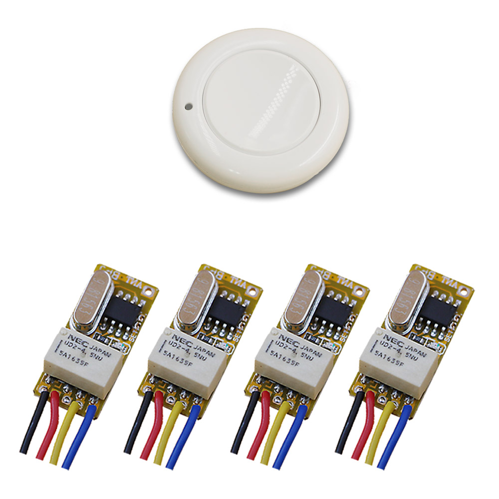 4V 5V 6V 7.4V 9V 12V Relay DC ON-OFF Wireless Remote Control Switch+Transmitter