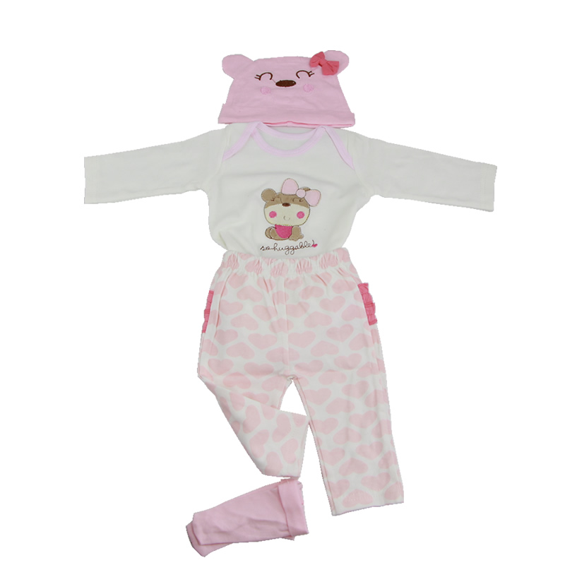 Pink Heart Clothes Five-Piece Suit Fit For 22-23 Inch Reborn Baby Doll Exquisite Workmanship Babies Suit Kids Birthday Gift handmade reborn baby doll clothes suit for 10 inch to 12 inch baby doll