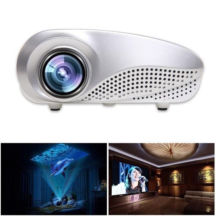 HENYNET Mini Home Multimedia Cinema LED Projector HD 1080P Support AV TV VGA USB HDMI SD Proyector uc40 55whd 1080p mini home 1080p led projector 50lm w hdmi av sd usb