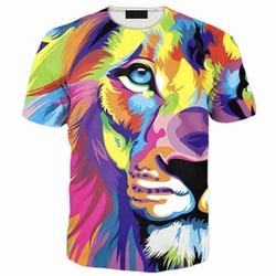 Free shipping cool rainbow lion t shirt plus size 3xl 4xl 5xl 6xl black t shirts.jpg 250x250