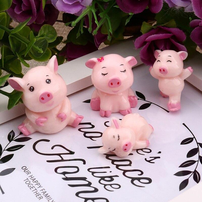 Cute Piggy Reading Accessories Miniature Dollhouse FAIRY GARDEN