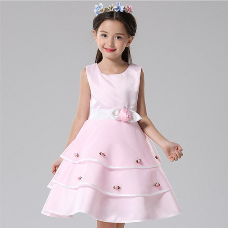 a31b7ffc25264 Children Princess Clothing Fashion Kids Christmas party Dress costume  Clothes Sleeveless Flower Dresses for Girls wedding gown -in Dresses from  Mother ...