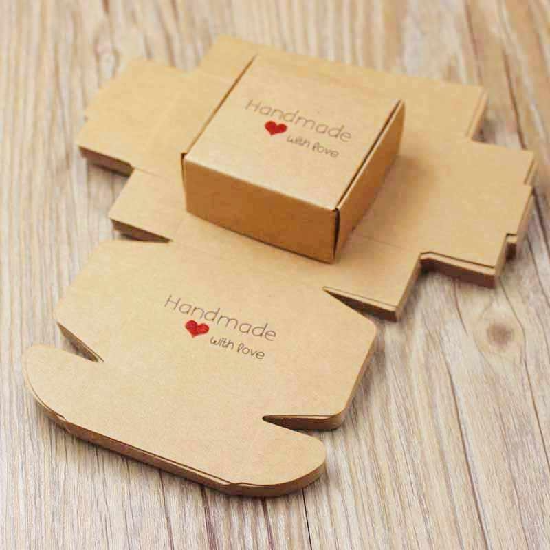 Feiluan personalizado multi estilos presente/doces/caixa de embalagem diy feito à mão com cartão de amor pacote de presente & caixa de exibição jóias box10pcs