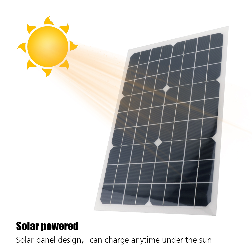 цена на BORUiT Outdoor Solar Panel 20W 18V Portable Solar Cell Emergency Power Supply Solar Generator DIY Solar Power System