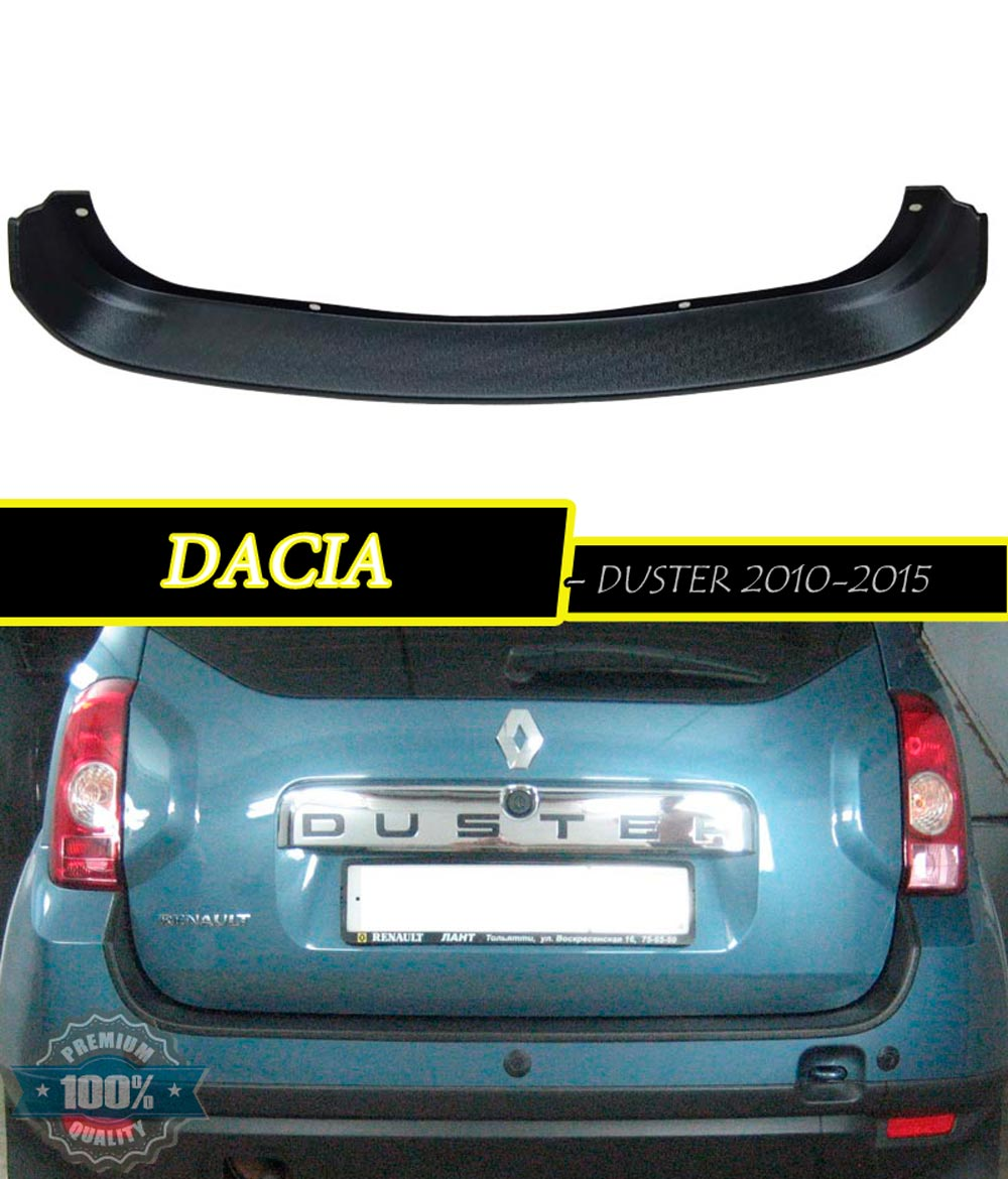 protection pad on rear bumper for dacia duster plastic abs. Black Bedroom Furniture Sets. Home Design Ideas