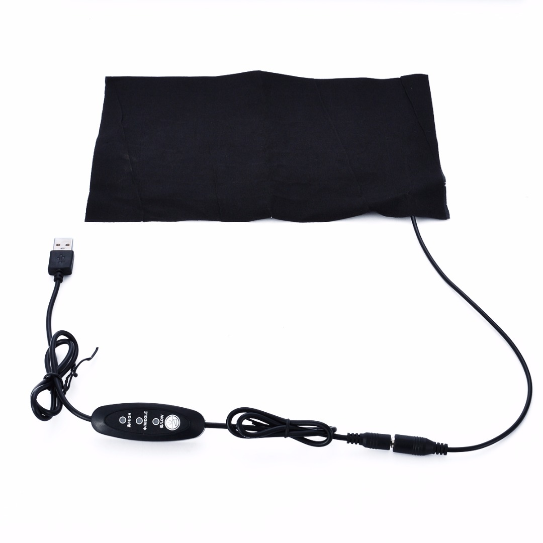 1pc Portable USB Electric Heating Pad 3 Gear Adjusted Temperature DIY Thermal Vest Jacket Clothing Heated Pads Warmer