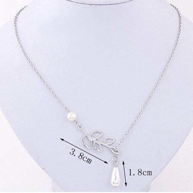 Delicate Bird & Leaf Shape Pendant Necklace 1