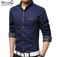 Mwxsd Brand Clothing 2017 Spring Cotton Men S Long Sleeved Shirt Business Casual Fashion Slim Shirt