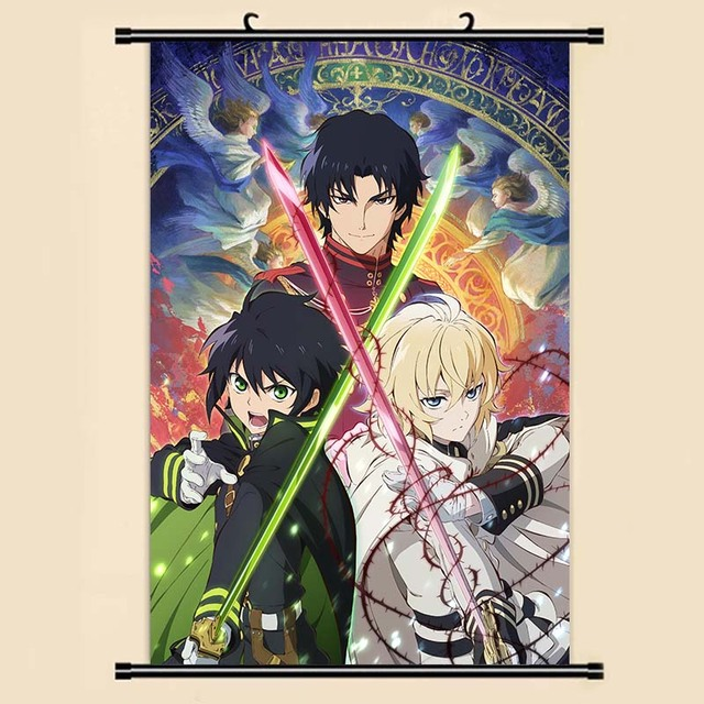 Anime Manga Seraph Of The End Wall Scroll Painting X Picture Wallpaper Stickers Poster