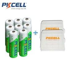 8 x PKCELL низкий саморазряд прочный Ni-MH 1.2 В 2200 мАч Батарея AA Перезаряжаемые Батарея с 2 шт. батарея держать Дело Box