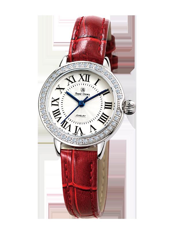 Royal Crown Jewelry Watch 4601L Italy brand Diamond Japan MIYOTA platinum Ultra thin Ladies Watches Top Brand Luxury Diamond кольцо royal diamond