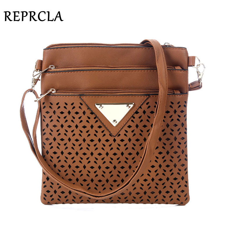 Vintage Women Bag Hollow Out Crossbody Bags PU Leather Shoulder Bag Brand Women Messenger Bags Designer Handbags Bolsas Feminina vintage weaving and hollow out design crossbody bag for women