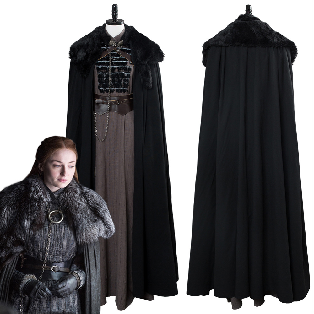 GOT Cosplay Costume Game of Thrones Sansa Stark Cosplay Costume Outfit Halloween Carnival Cosplay Costumes
