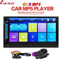 Labo 2 DIN 6.95 дюймов HD в тире автомобиля Сенсорный экран Bluetooth стерео MP4 MP5 Hands Free HD 1080 P сзади вид Камера автомобиля Радио плеер
