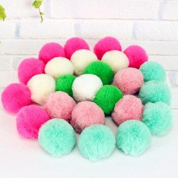 10 unid/lote pelota juguete para gato juguetes interactivos para gatos pelota de juego gatito caramelos de juguete bola de color surtido gatos jugando Juguetes