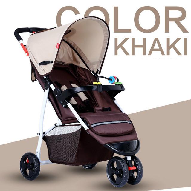 Portátil dobrável carrinho de criança para o curso de alta qualidade carrinhos de bebê triciclo carrinho de criança dobrável luz pode sentar mentir