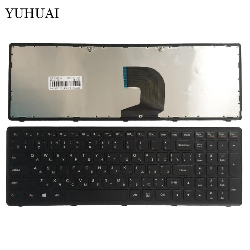 New Russian keyboard for Lenovo Ideapad Z500 Z500A Z500 Z500G P500 black RU laptop keyboard with frame No backlight new russian keyboard for lenovo ideapad u530 black ru laptop keyboard with palmrest cover 90204072 backlit