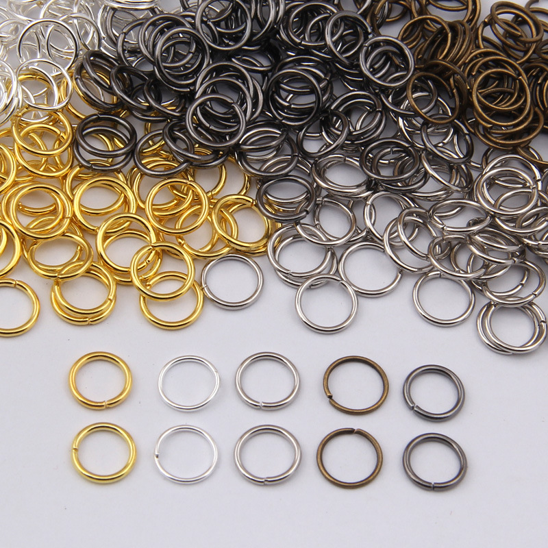 DIY bag accessories hoops lap 4/5/6/7/8/9/10mm connection ring closed ring 100 g / lot Iron Jump Rings F7-9
