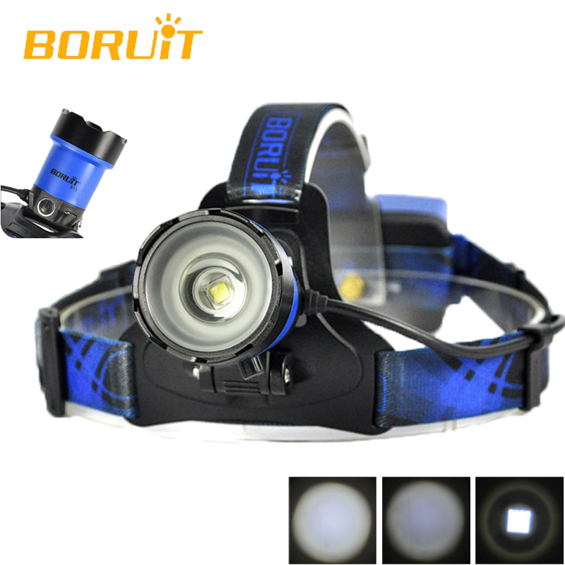 BORUiT B13 Cree XM-L2 Frontal LED Headlamp Waterproof Camping Headlight Lamp Rechargeable Forehead Light Bicycle Head Light boruit b10 xm l2 led headlamp 3 mode 3800lm headlight micro usb rechargeable head torch camping hunting waterproof frontal lamp
