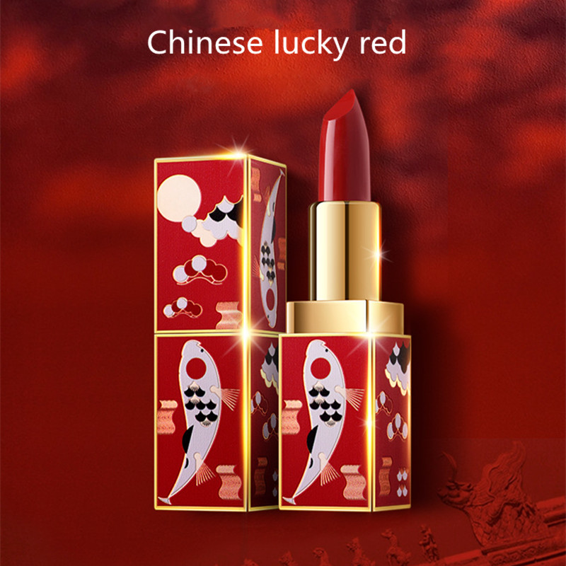 Mondial Chaude Oriental L'esthétique Rouge À Lèvres Hydratant Imperméable rouge à lèvres mat Chinois Cour Collection Rouge À Lèvres