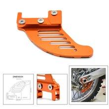 цена на Motorcycle CNC Aluminum Orange Autobike Rear Brake Disc Guard Potector For KTM 450 SX 2003-2006 KTM 450 EXC 2003-2007 2005 2006