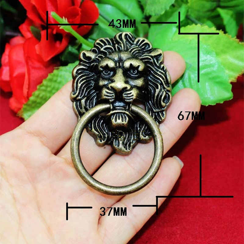 Vintage Lion Head Furniture Door Pull Handle Zinc Alloy Cabinet Dresser Drawer Knobs,43*67mm,1PC рюкзак для ноутбука 17 3 case logic prevailer 217 полиэстер черный prev 217 black midnight