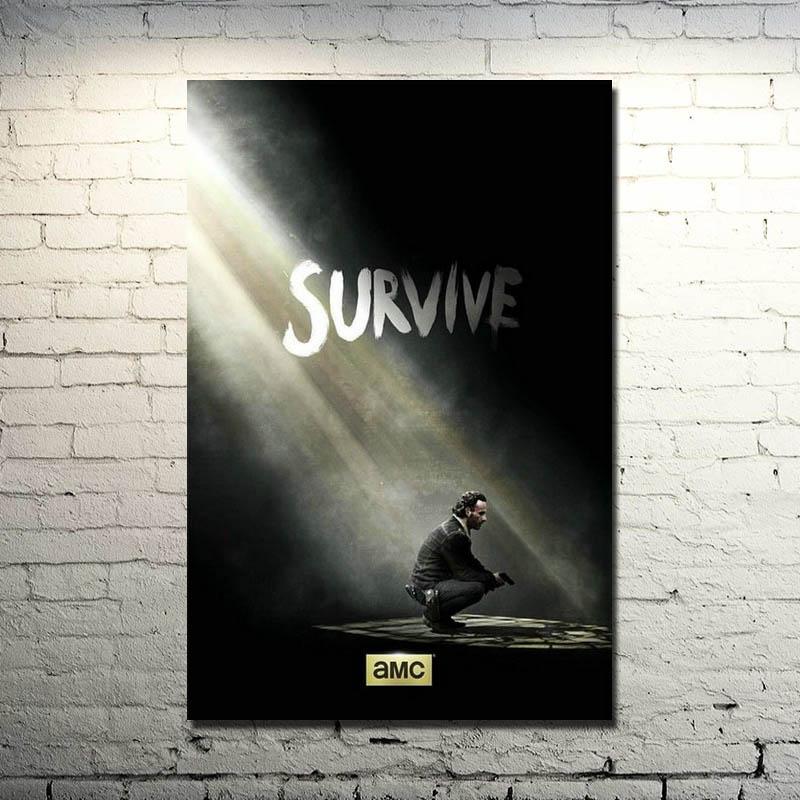The Walking Dead TV Series Silk Fabric Poster Print 13x18 24x32 inch 021