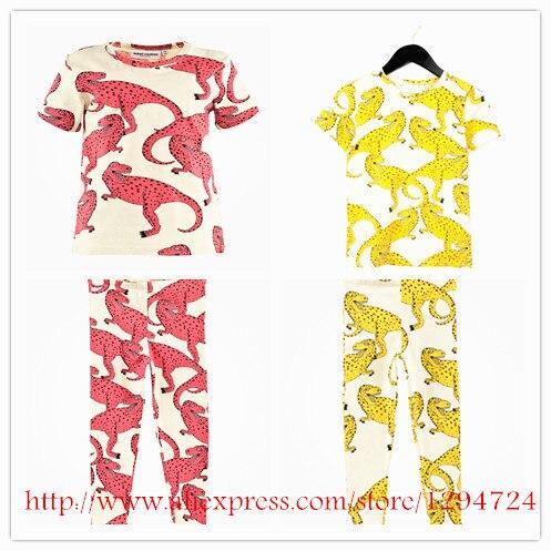 ins 2016 dinosaur pattern kids clothing sets t shrits+pants 2 pcs baby boy clothes vestidos vetement enfant garcon bobo choses