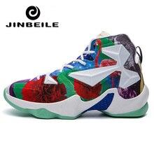 цена на Man Light Basketball Shoes Anti-slip Basket Shoes Sneakers Men Lace-up Sport Gym Ankle Boots Sport Shoes Zapatillas Hombres