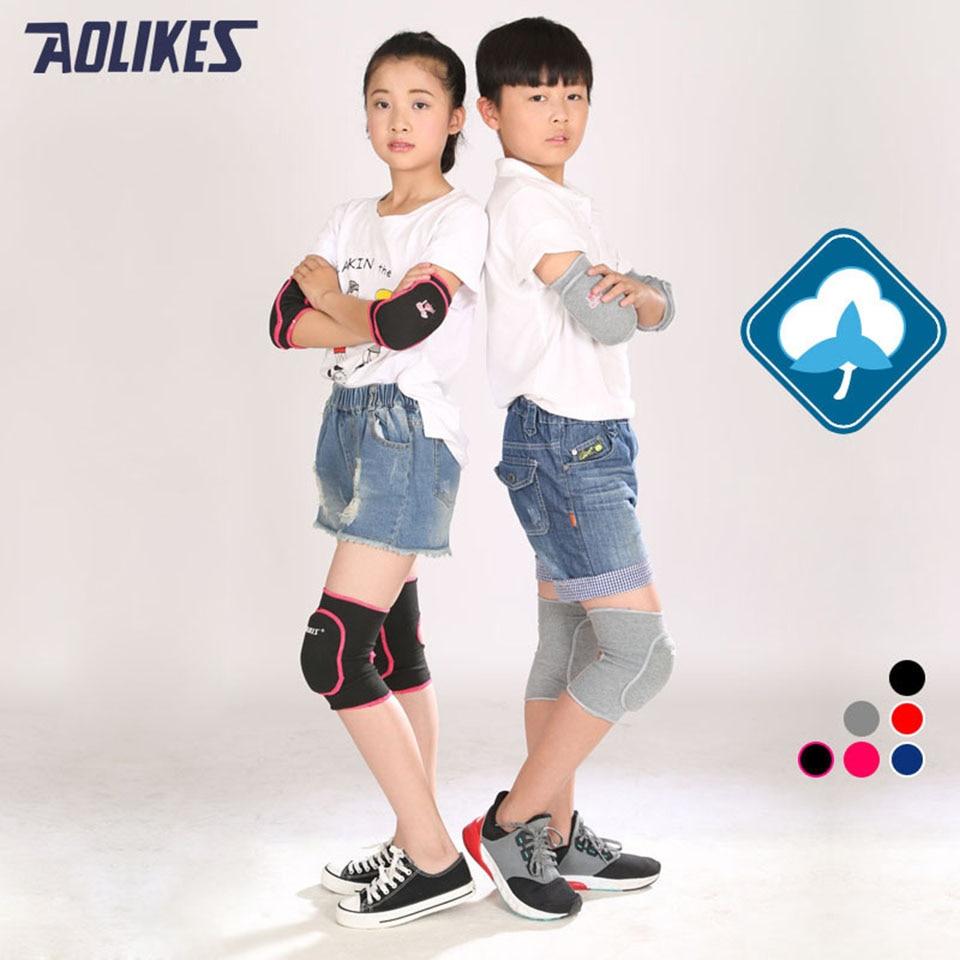 Prix pour AOLIKES 1 Paire Enfants Genou Soutien Bébé Ramper Sécurité De Danse Volley-Ball Genouillères Sport Gym Genouillères Enfants Genou Soutien