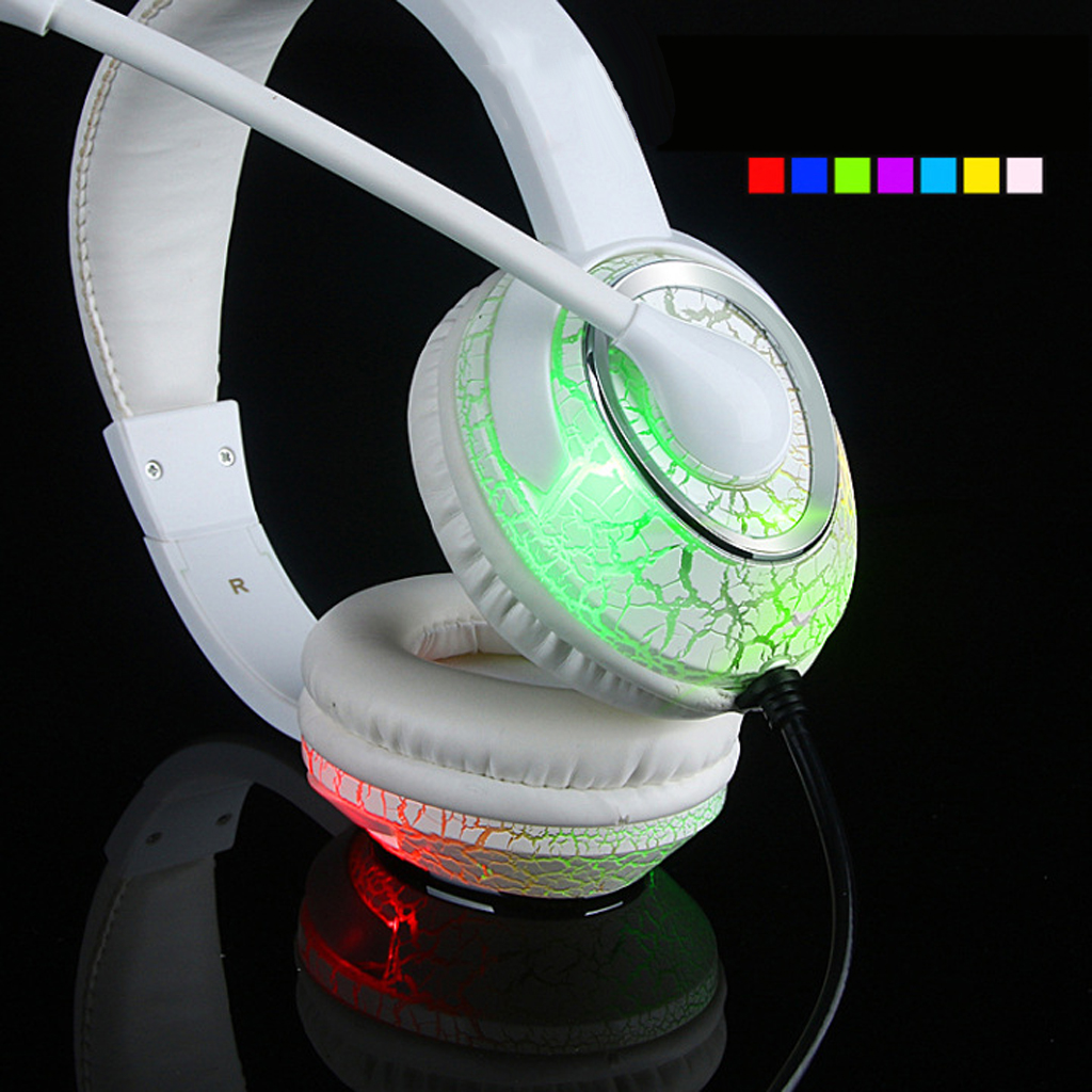 USB 3.5mm Stereo Gaming Headset Headband Bass Headphone with Mic For PC ...