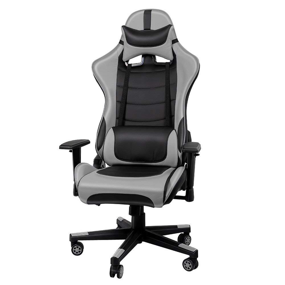 Racing Executive Chair Office Computer Chair With Adjustable Height And The Backrest Tilted At 135 Degrees GB
