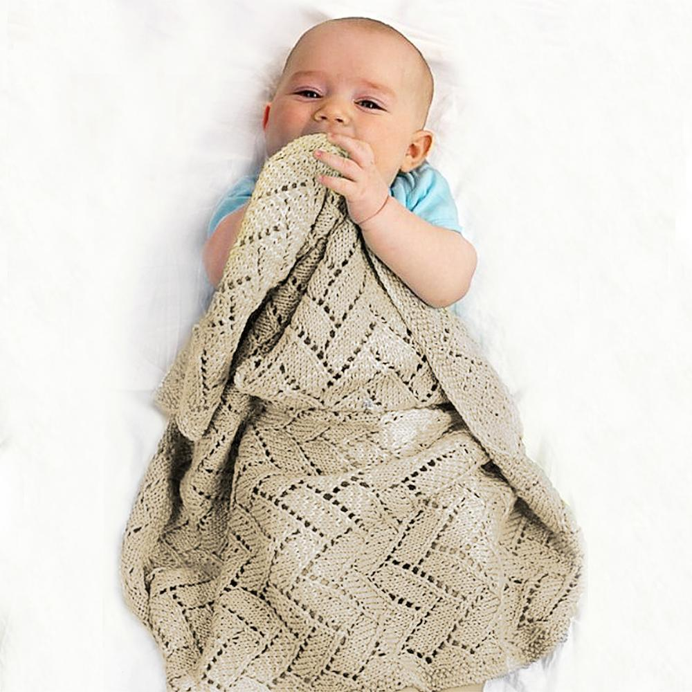 Baby Blankets Newborn Muslin Swaddle Wrapper Fashionable Solid Color Knitted Infant Bebes Stroller Carseat Cover Children Quilts