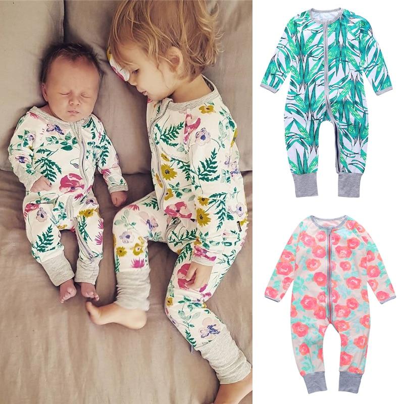 2020 Ubrania dla dziewczynek Jesień Romper dla niemowląt Wiosna Ubrania dla noworodków Z długim rękawem Odzież dla chłopców Odzież dla niemowląt Kombinezony Roupas