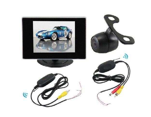 3 в 1 Универсальный Беспроводной Автомобильная камера заднего вида Парковка камера заднего вида + 3.5 TFT ЖК-дисплей montior с ночного видения и Во... ...