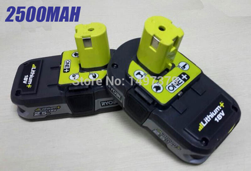 2X Used Reconditioned Ryobi 18 Volt 18V 2500mah RB18L25 One Plus Lithium Ion Power Tools Battery for P103, P104, P105, P108 2 x panku 18v 3 0ah nimh replacement battery for porter cable pc18b 2 18 volt cordless tools batteries