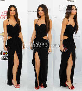 XGGandXRR Selena Gomez Long Celebrity Dresses Evening Gown
