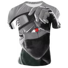 Anime Naruto kakashi tshirt Men Women 3D t-shirt naruto cosp