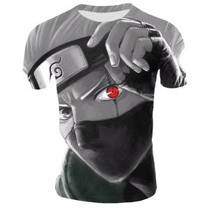 Anime Naruto kakashi tshirt Men Women 3D t-shirt naruto cosplay Sweatshirts naruto kakashi action figure tee shirts Men Tops(China)