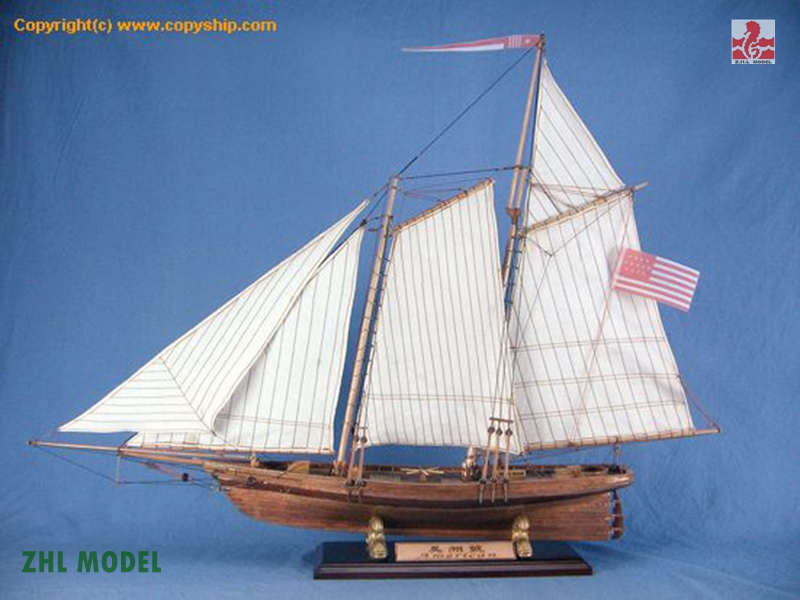 ZHL American model ship wood ingermanland 1715 model ship wood