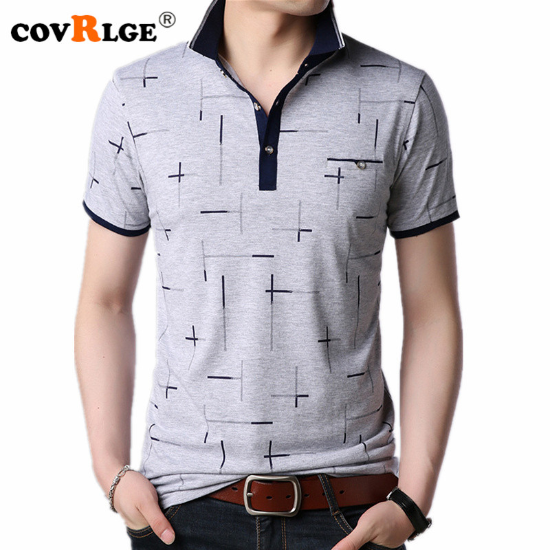 Covrlge Solid Color   Polo   Shirts Men Smart Casual Short Sleeve Shirts Polyester Spring   Polos   Shirts Breathable Fold Tops MTP125