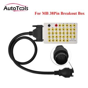 Image 1 - De calidad superior para MB 38pin breakout box pin conector automático caja coche 38 pin romper caja de herramienta de coche herramienta