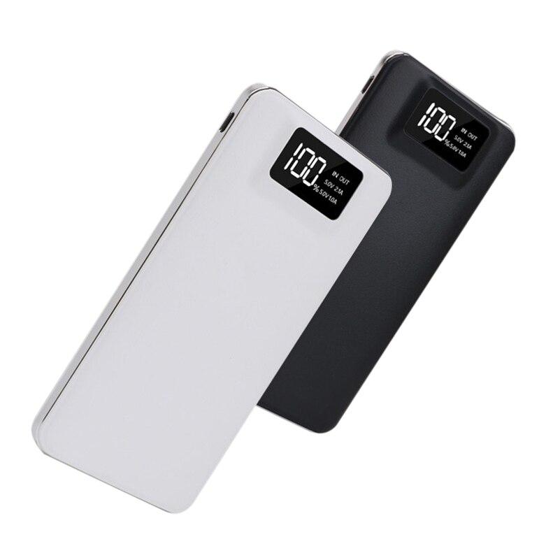 Fino 20000 mAh Banco De Potência Carregador Portátil 2 USB Ultra-fino Powerbank Polímero bateria power-banco Com LED luz para o Telefone Móvel
