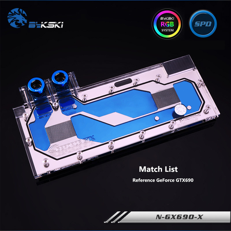 Bykski Full Coverage GPU Water Block For Reference GeForce GTX690 Graphics Card N-GX690-X vg 86m06 006 gpu for acer aspire 6530g notebook pc graphics card ati hd3650 video card