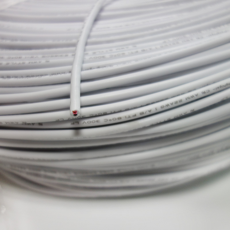 2 Pin 10M 20M 18AWG 20AWG 22AWG 24AWG Electric White Black Extension ...