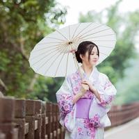 Print Floral Elegant Girl Dress Gown Japanese Lady Kimono Classic Yukata With Obi Vintage Dance Show Clothes Cosplay Costume