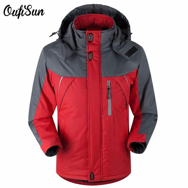-40 Celsius Plus Thick Velvet Down Parka coat XS-5XL New winter brand jacket oufi sun men waterproof windproof chaquetas hombre