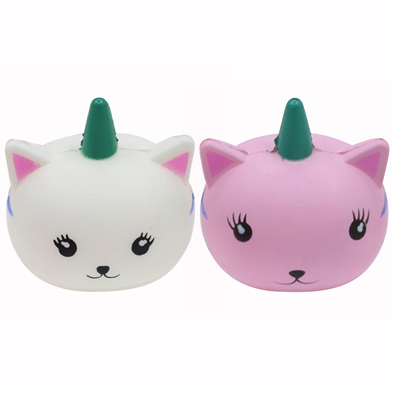 New Kawaii Squishy Cute Unicorm Cat Ball Collection Slow Rising Soft Squeeze Straps Cake Bread Kid Toy Fun Gift
