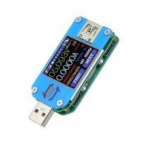 USB2.0 Tester Voltage Current BT Battery Power Charger Voltmeter Ammeter Multimeter Tester 1.44Inch Color LCD Display Screen
