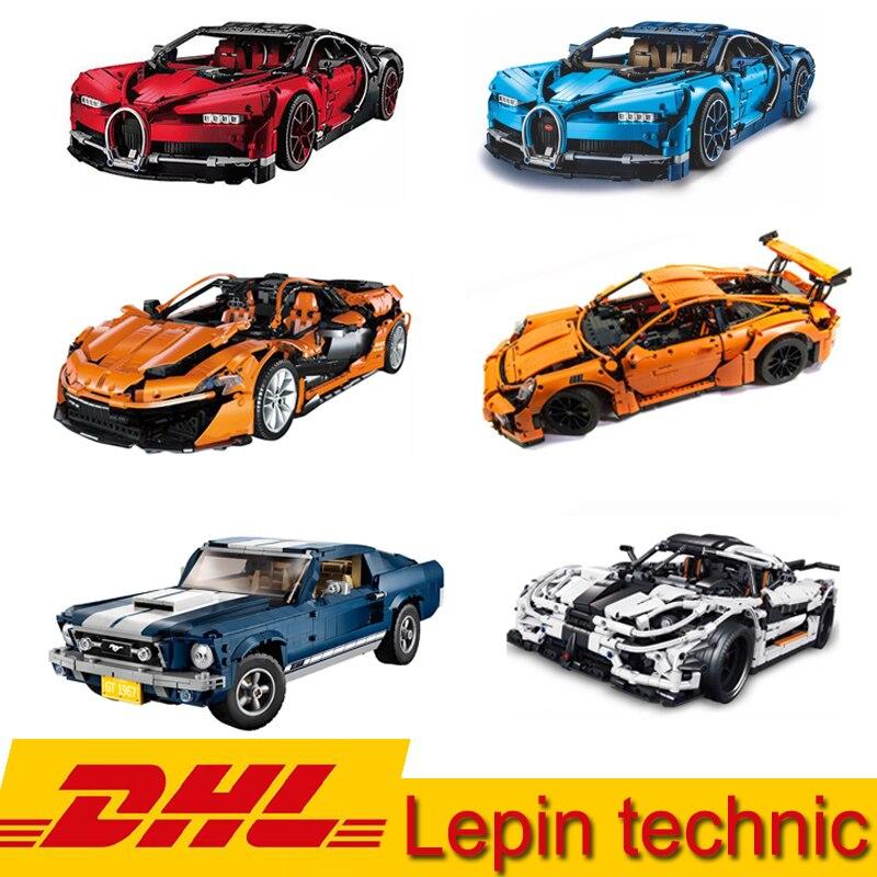 Lepin technique série Super Voiture Bugatti chiron Veneno McLaren Koenigsegg Mustang GT-911 Modèle blocs de construction Jouet Même LegoINGS